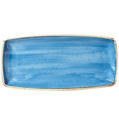 "Churchill Stonecast Cornflower Blue Oblong Plate 11.75""x6"" (12)"