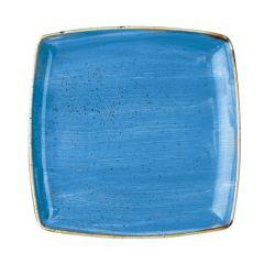 "Churchill Stonecast Cornflower Blue Deep Square Plate 10.25"" (6)"