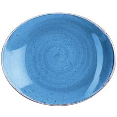 "Churchill Stonecast Cornflower Blue Oval Coupe Plate 7.75"" (12)"