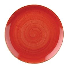 "Churchill Stonecast Berry Red Coupe Plate 11.25"". (12)"