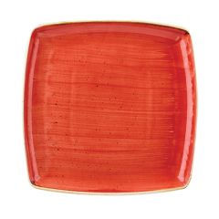 "Churchill Stonecast Berry Red Square Plate 10.5"" (6)"