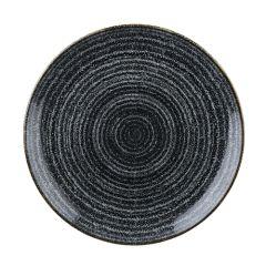 "Churchill Studio Prints Homespun Charcoal Black Coupe Plate 10.25"" (12)"