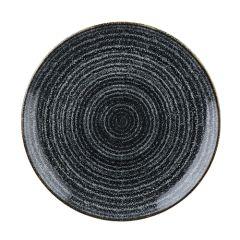 "Churchill Studio Prints Homespun Charcoal Black Coupe Plate 6.5"" (12)"