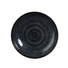 "Churchill Studio Prints Homespun Charcoal Black Coupe Bowl 7.25"" (12)"
