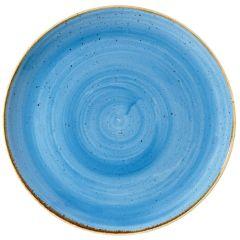 "Stonecast Cornflower Blue Coupe Plate 11.75"" (12)"