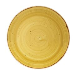 "Churchill Stonecast Mustard Yellow Coupe Plate 8.67"" (12)"