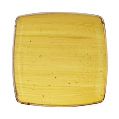 "Churchill Stonecast Mustard Yellow Deep Square Plate 10.5"" (6)"