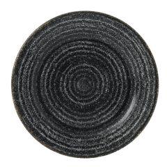 "Churchill Studio Prints Homespun Charcoal Black Rimmed Plate 6.6"" (12)"