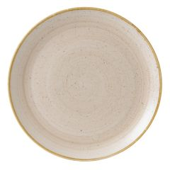 "Churchill Stonecast Nutmeg Cream Coupe Plate 12.75"" (6)"
