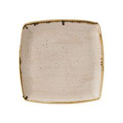 "Churchill Stonecast Nutmeg Cream Deep Square Plate 10.5"" (6)"