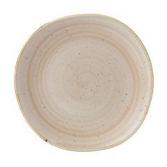 "Churchill Stonecast Nutmeg Cream Organic Round Plate 10.4"" (12)"