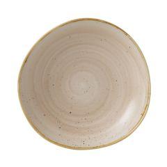 Churchill Stonecast Nutmeg Cream Organic Round Bowl 38oz (12)