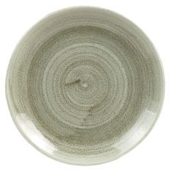 """Stonecast Patina Green Coupe Plate 6"""" (12)"""