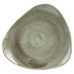 "Stonecast Patina Green Triangle Plate 12.25"" (6)"