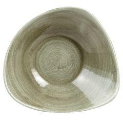 """Stonecast Patina Green Triangle Bowl 9.25"""" (12)"""