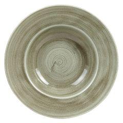 "Stonecast Patina Green Wide Rim Bowl 11"" (12)"