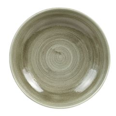 """Stonecast Patina Green Coupe Bowl 7.25"""" (12)"""