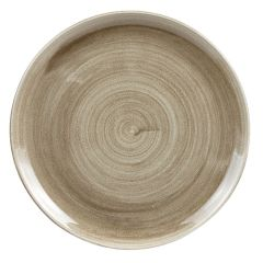 """Stonecast Patina Taupe Coupe Plate 12.75"""" (6)"""