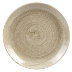 """Stonecast Patina Taupe Coupe Plate 8.6"""" (12)"""