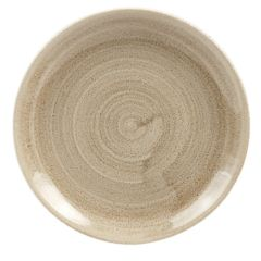 """Stonecast Patina Taupe Coupe Plate 6.5"""" (12)"""