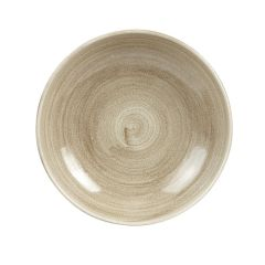 """Stonecast Patina Taupe Coupe Bowl 9.75"""" (12)"""