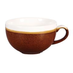 Churchill Monochrome Cinnamon Brown Cappuccino Cup 12oz (12)