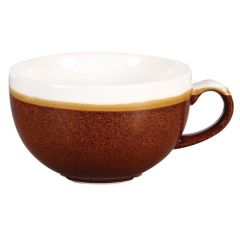 Churchill Monochrome Cinnamon Brown Cappuccino Cup 8oz (12)