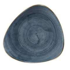 "Stonecast Blueberry Triangle Plate 9"" (12)"