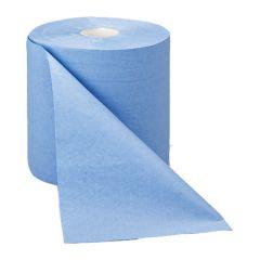 Blue Wiper Roll 2ply. (6)