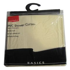 Croydex Ivory PVC Shower Curtain