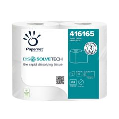 Dissolve Tech 1ply Conventional Toilet Roll White 850 sheet