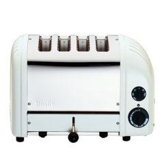 Dualit 4 Slot White Standard Toaster.