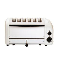 Dualit 6 Slot White Standard Toaster.