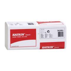 Katrin Classic Zig Zag White Hand Towel 1ply (4000)