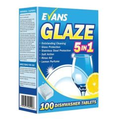 Evans Glaze All-in-One Dishwasher Tablets (120 tablets)