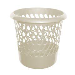 Cream Plastic Waste Paper Bin