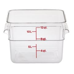 CamSquares Polycarbonate Food Storage Container 185x185x100mm.