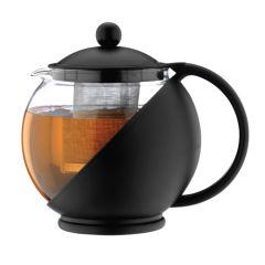 Cafe Ole Infuser Black Teapot 25oz