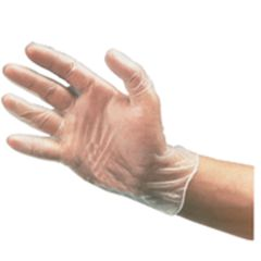 Clear Vinyl Gloves Powder Free (S)