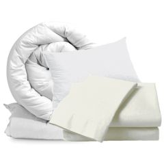 Cream Single Bedding Set 10.5 Tog