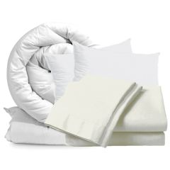 Cream Double Bedding Set 10.5 Tog