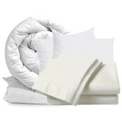 Cream Double Bedding Set 10.5 Tog