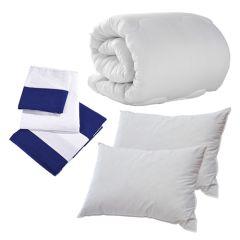 Navy Seaside Stripe Double Bedding Set Pack