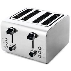 4-Slice Brushed & Polished Toaster