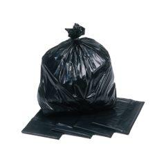 """100% Recycled Black Bin Bags 140g 18""""x32""""x39"""" (200)"""