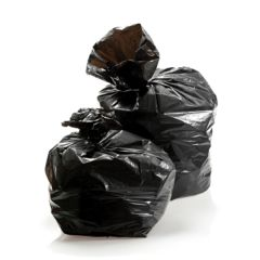 "Degradable Black Bin Bags 140g 18""x32""x39"" (200)"