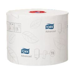 Tork Mid-Size White Toilet Roll 2ply 100m