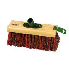 "Jangro Bassine/Red PVC Yard Broom Head 9.5"""