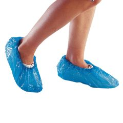 """Jangro Blue Disposable Overshoes 14"""" (100 pairs)"""