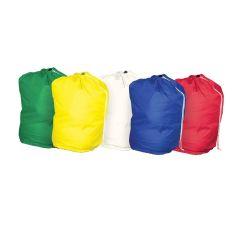Jangro Drawstring Polyester White Laundry Bag